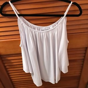 New York & Company Tops - NWOT NY&Co White Cold Shoulder Top